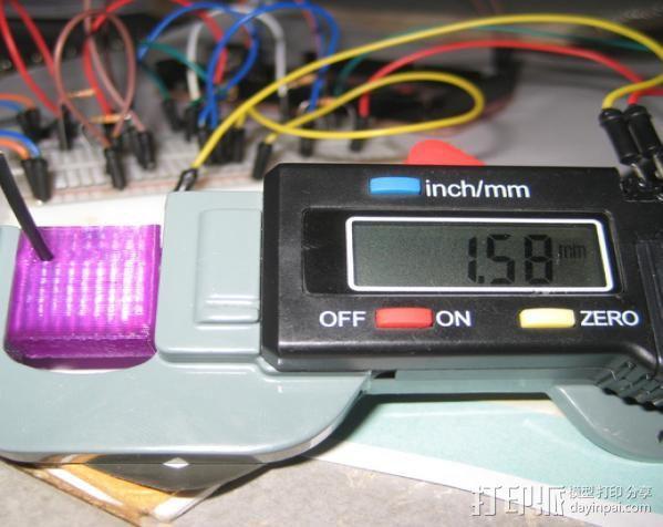 灯丝测量仪 3D打印模型渲染图