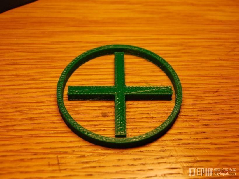 十字和圆圈 3D打印模型渲染图