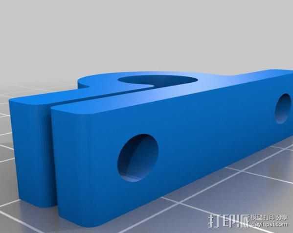 夹杆 3D打印模型渲染图