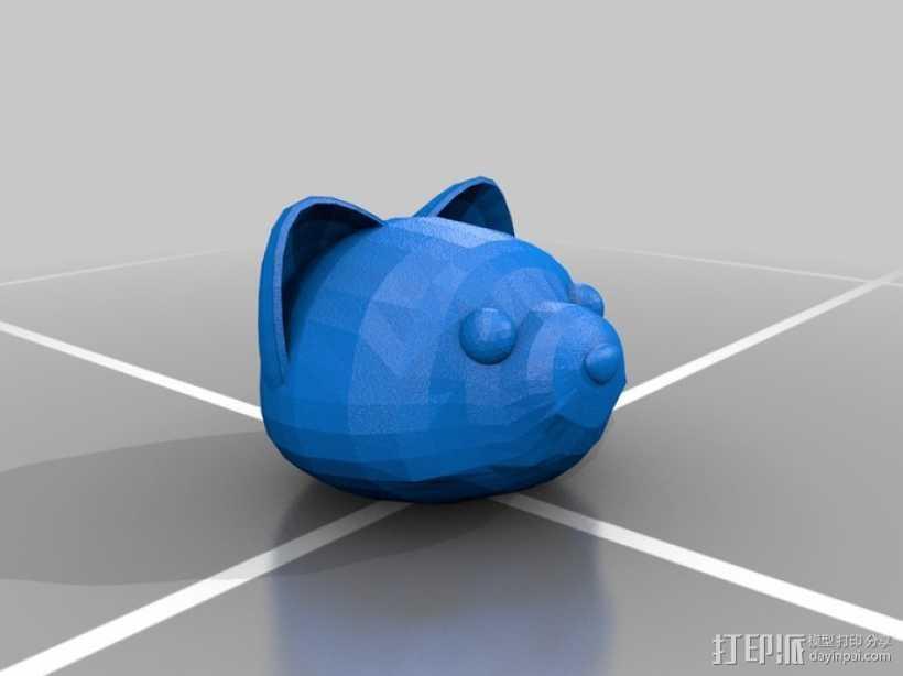 Foxkeh version 3摆件 3D打印模型渲染图