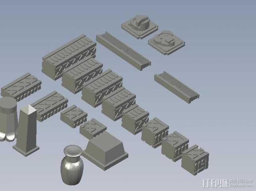 埃及喷泉  3D打印模型渲染图