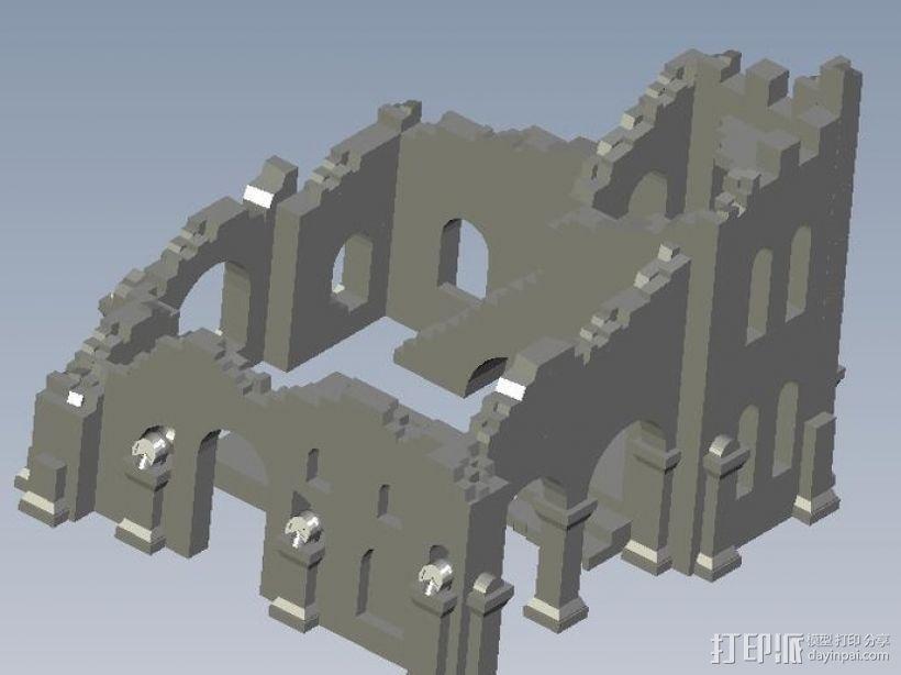 遗迹摆件 3D打印模型渲染图