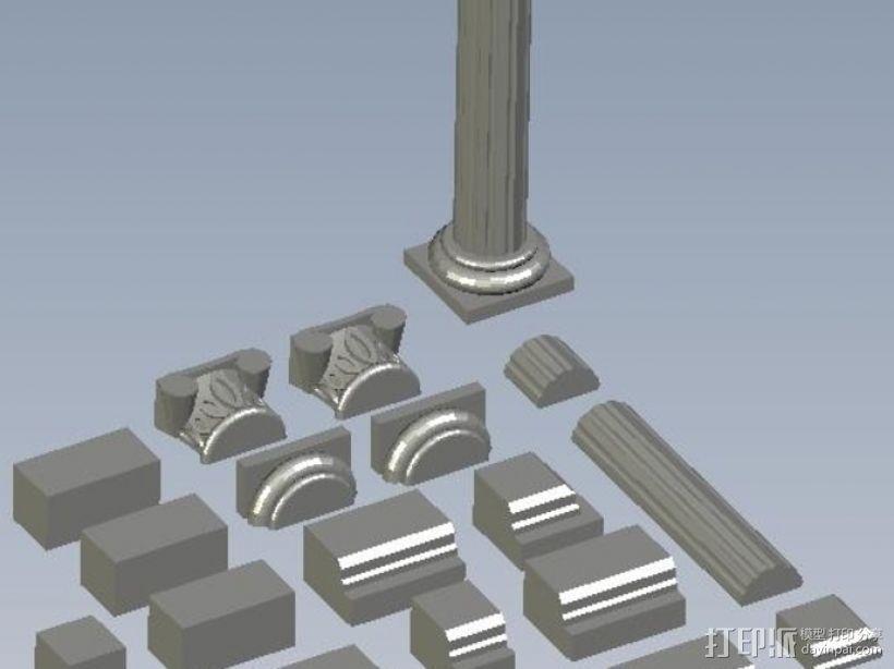 罗马神庙 3D打印模型渲染图