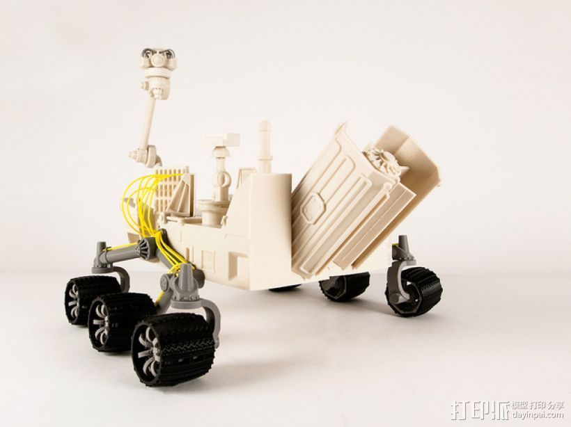 火星探测器 3D打印模型渲染图