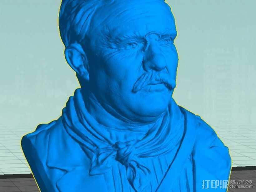 西奥多 罗斯福 3D打印模型渲染图