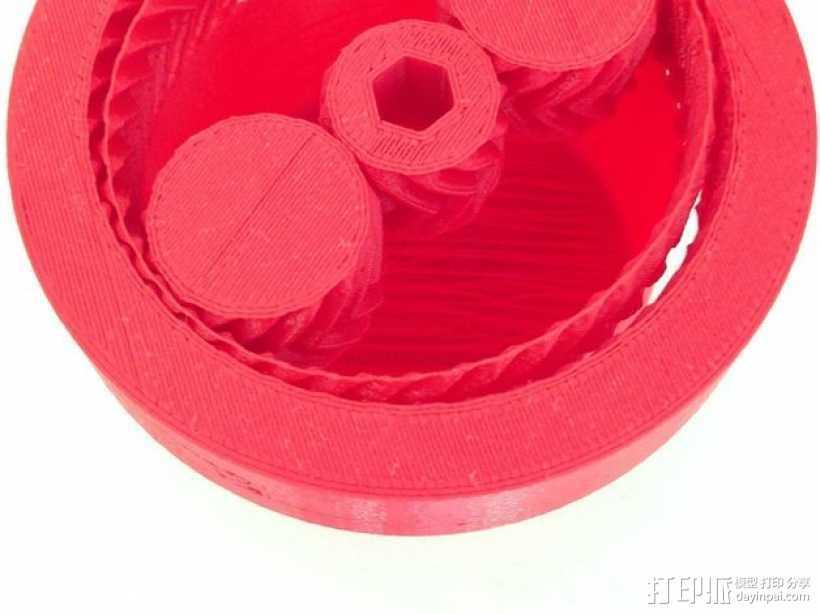 齿轮驱动 3D打印模型渲染图
