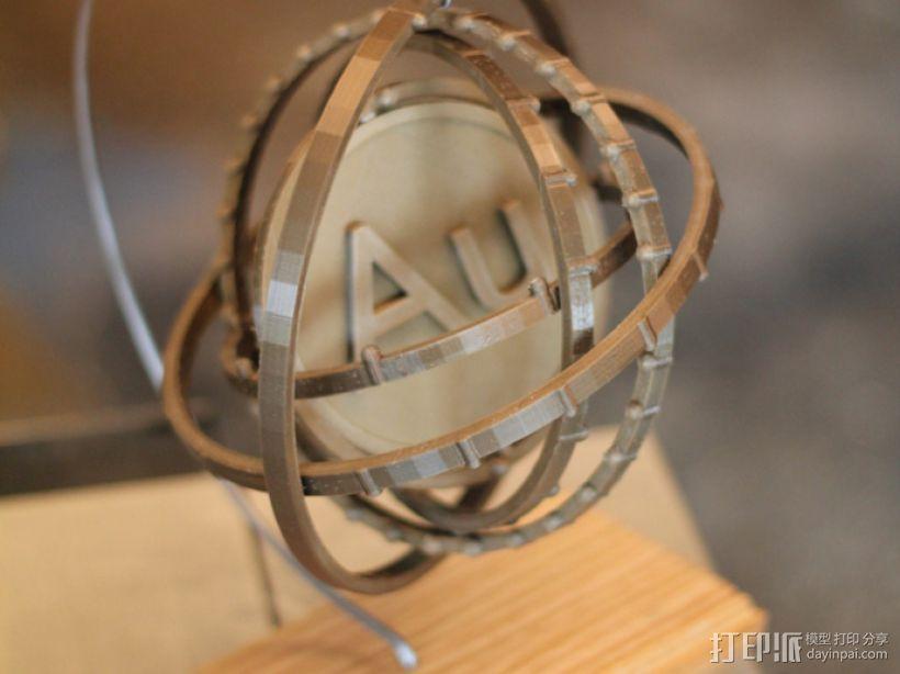 原子 模型 3D打印模型渲染图