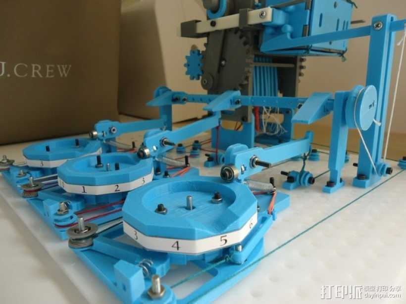 Turbo Entabulator -- 3D打印手摇计算机 3D打印模型渲染图