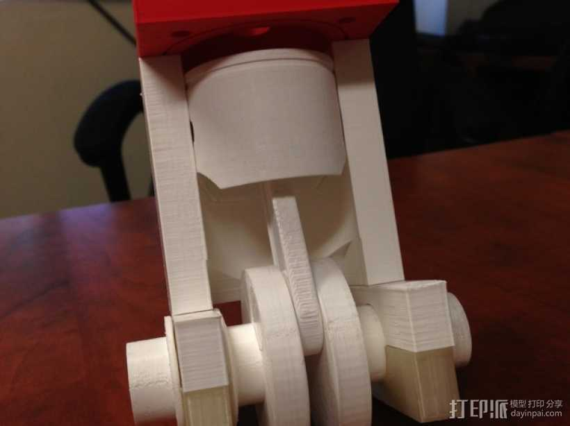可摆动发动机 3D打印模型渲染图