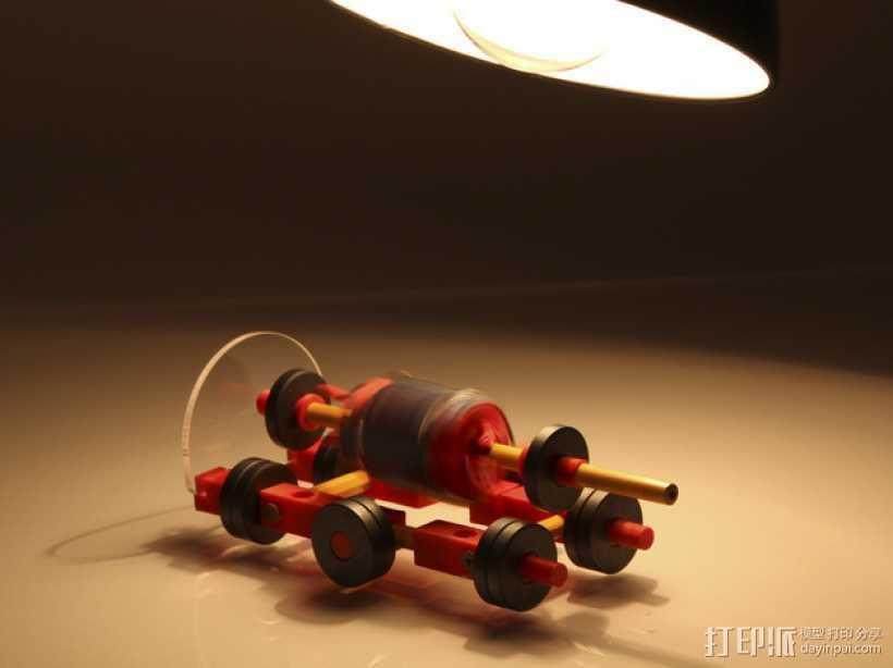 门多西诺电机 3D打印模型渲染图