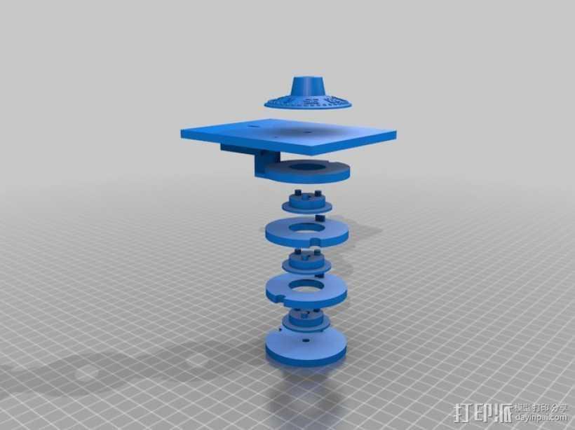 字码锁 3D打印模型渲染图