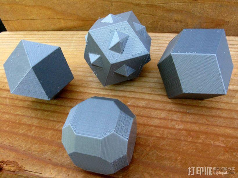 多面体 3D打印模型渲染图