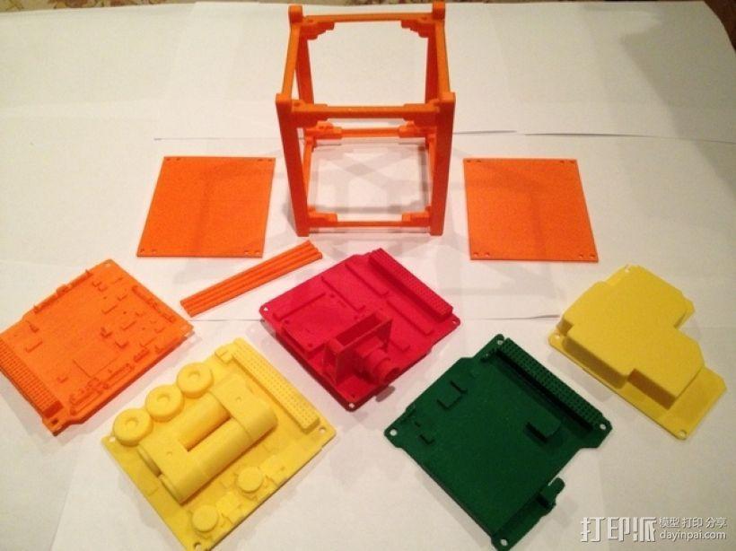 立方体人造卫星 3D打印模型渲染图