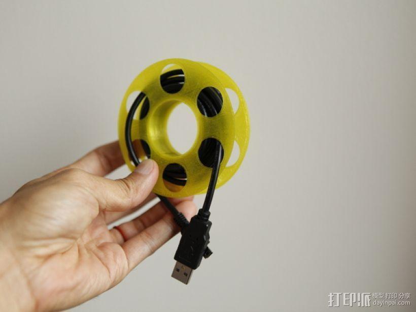 迷你电缆线轴模型 3D打印模型渲染图