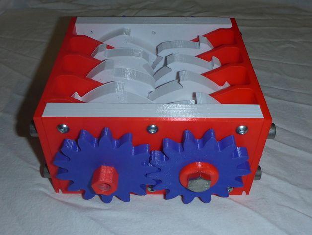 肥料捣碎机模型 3D打印模型渲染图
