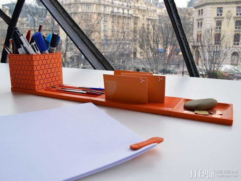 个性化笔筒模型 3D打印模型渲染图