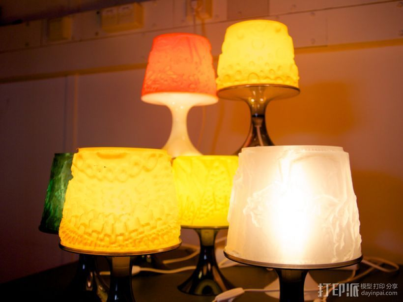 宜家拉姆本台灯灯罩模型 3D打印模型渲染图