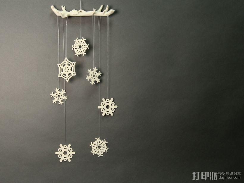 雪花形装饰物模型 3D打印模型渲染图
