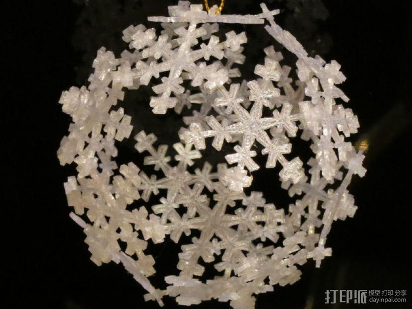 雪花形十二面体装饰物 3D打印模型渲染图