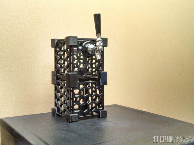 模块化蜂巢结构模型 3D打印模型渲染图