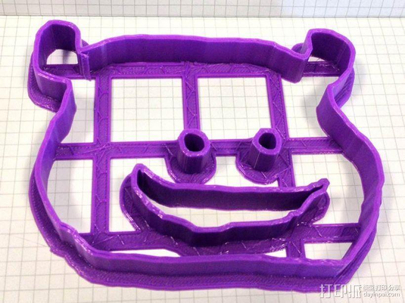 个性化饼干模型切割刀 3D打印模型渲染图