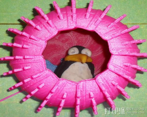 海胆形鸟笼模型 3D打印模型渲染图