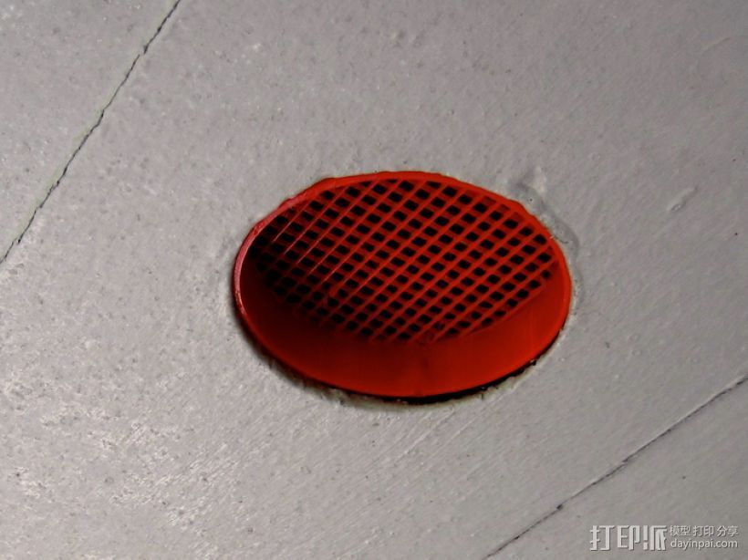 圆形过滤装置 3D打印模型渲染图