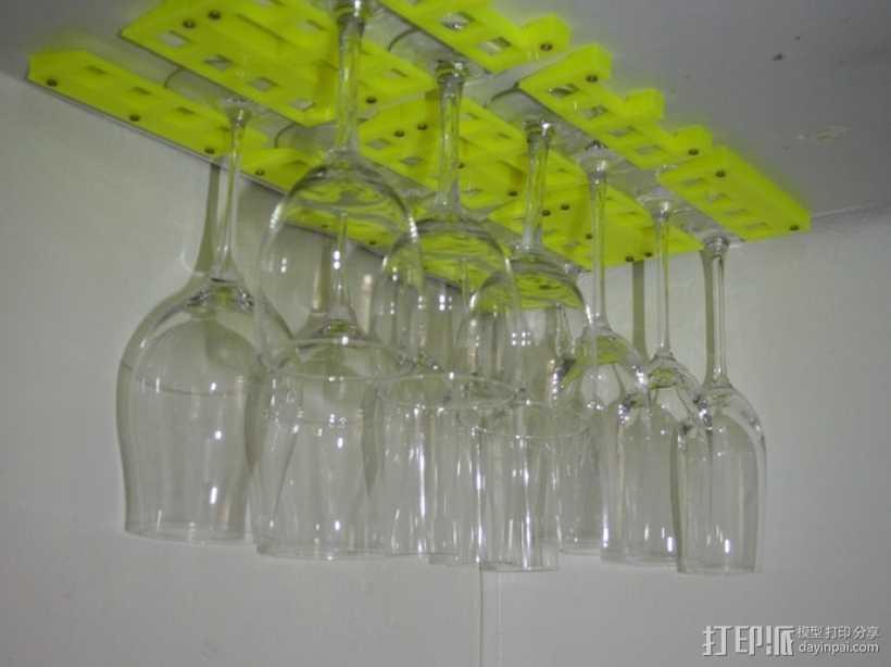 红酒杯固定架模型 3D打印模型渲染图