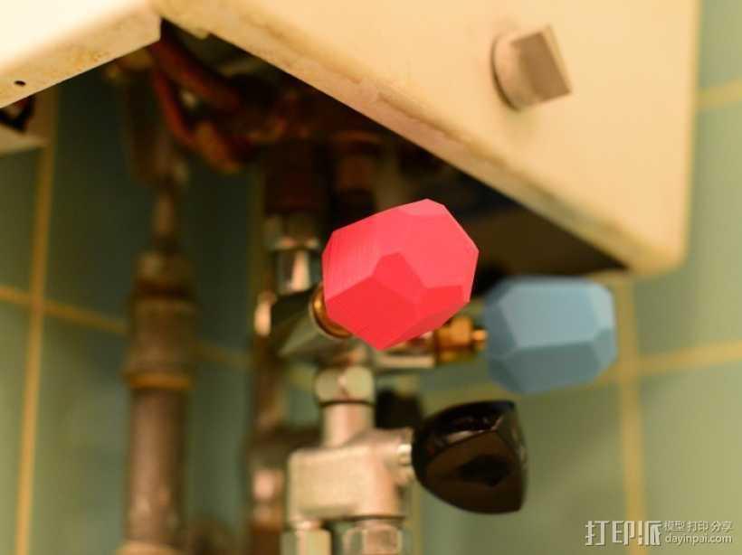 迷你水管接头套模型 3D打印模型渲染图