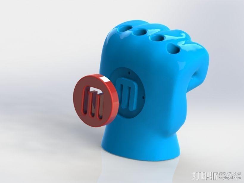 手形笔筒模型 3D打印模型渲染图