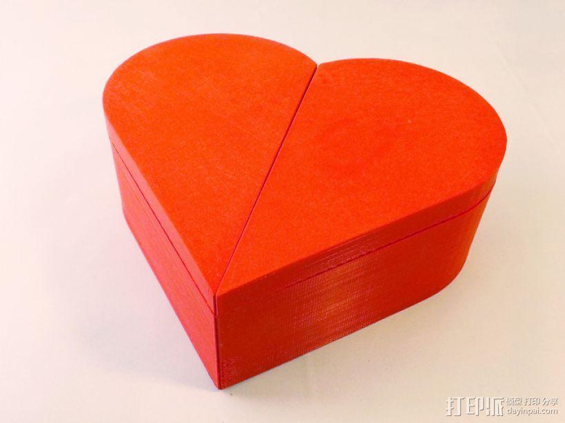 心形礼物盒模型 3D打印模型渲染图