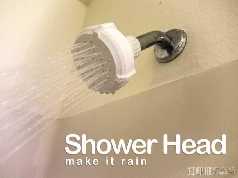 淋浴喷头MK1 3D打印模型渲染图