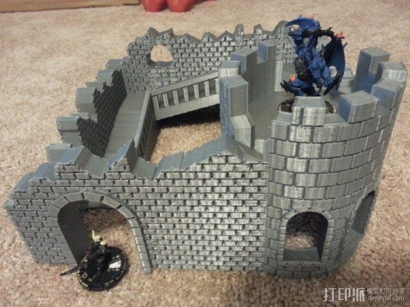 野战游戏的城堡废墟 3D打印模型渲染图