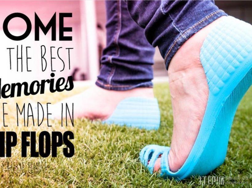 recreus凉鞋 3D打印模型渲染图