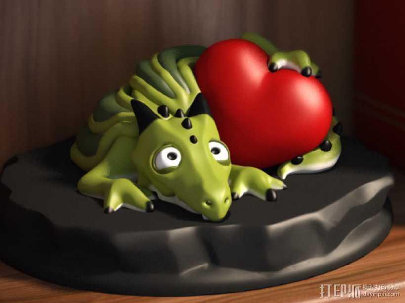怪兽宠物情人节 3D打印模型渲染图