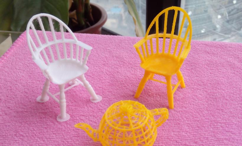 椅子 3D打印实物照片