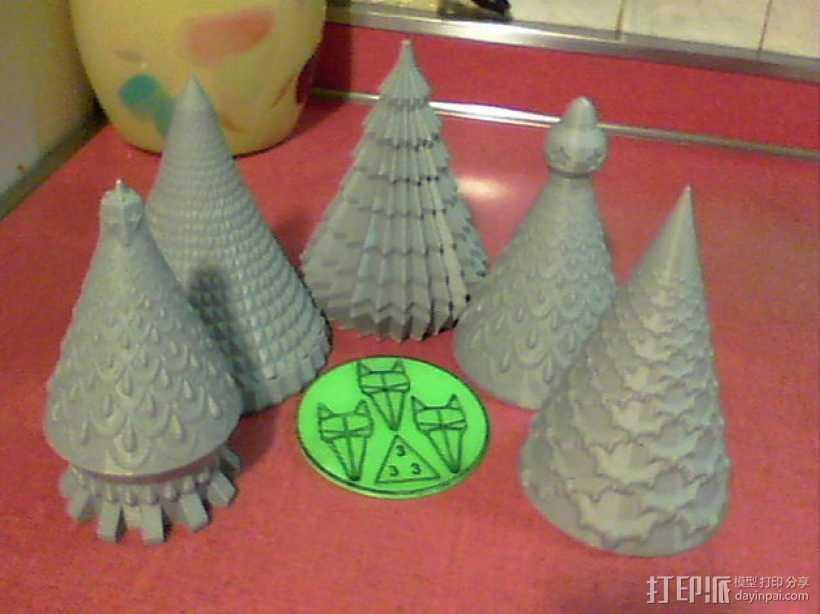 圣诞树模型01 3D打印模型渲染图