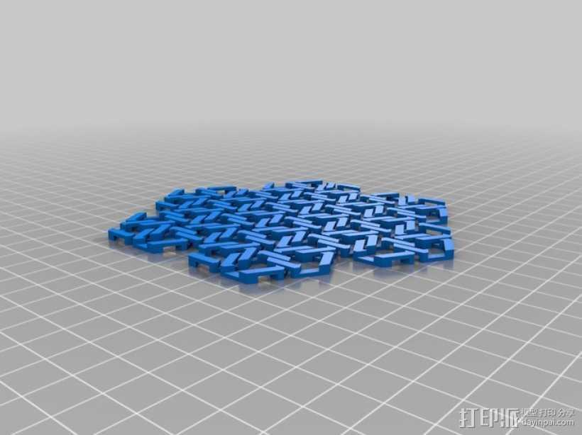 雪花形锁子甲模型 3D打印模型渲染图