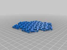 雪花形锁子甲模型