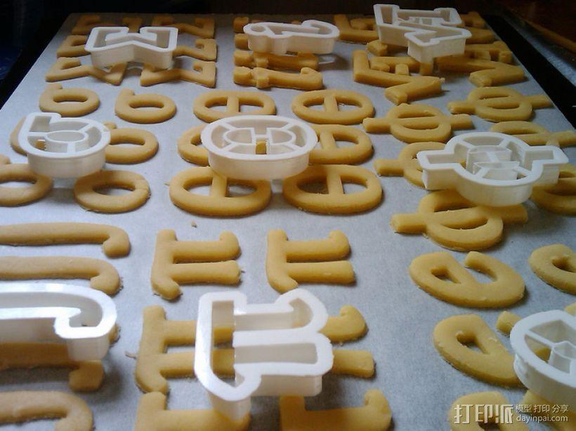 数字饼干模型切割刀套件 3D打印模型渲染图