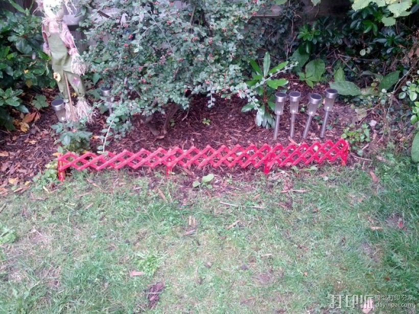 装饰性花园栅栏模型 3D打印模型渲染图