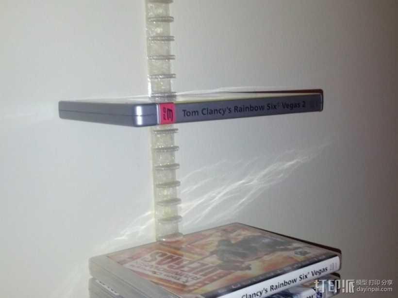 迷你DVD架模型 3D打印模型渲染图