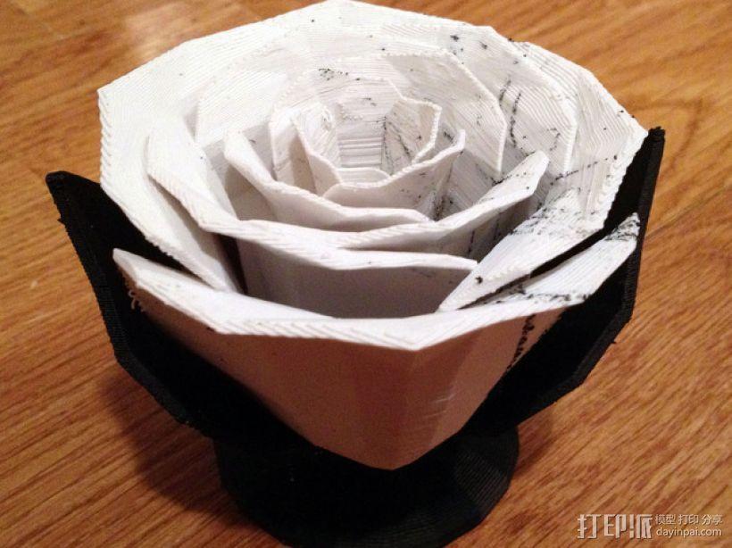 迷你玫瑰花模型 3D打印模型渲染图