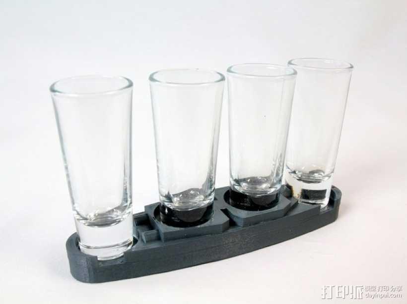 玻璃杯底座模型 3D打印模型渲染图