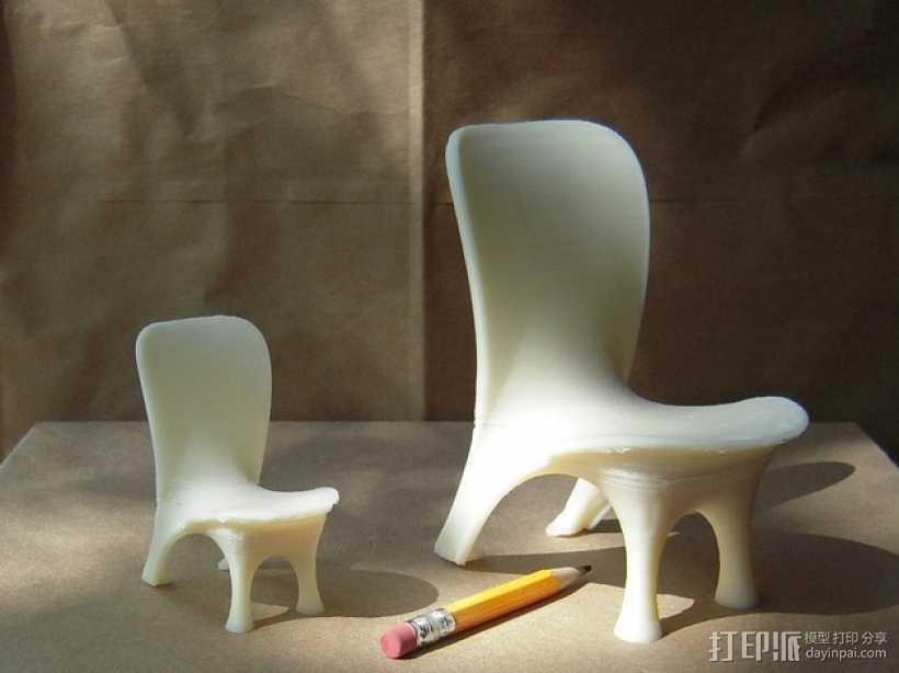 泡泡透明椅模型 3D打印模型渲染图