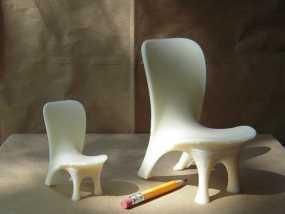 泡泡透明椅模型