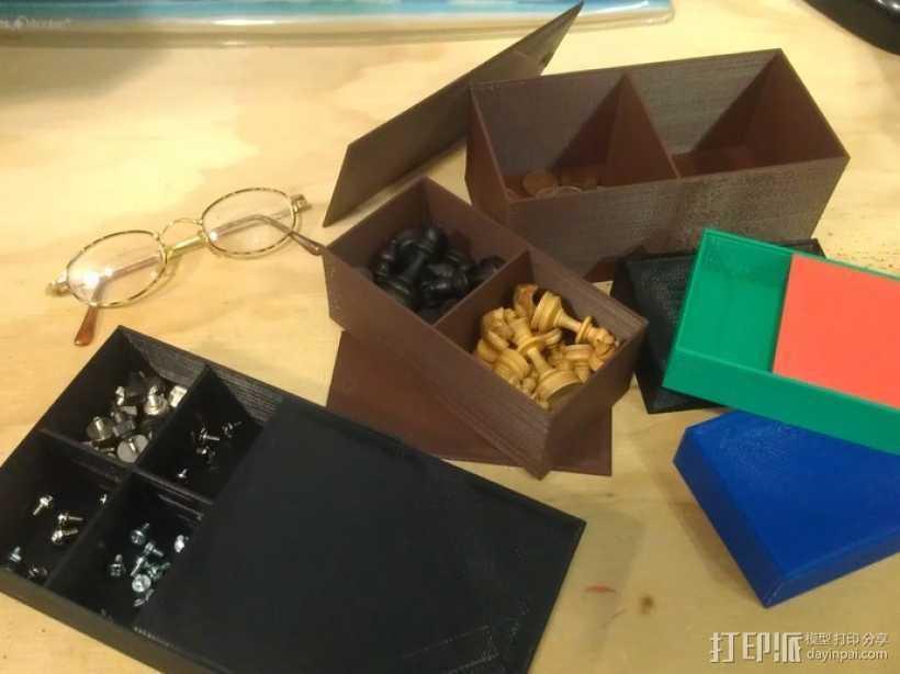 参数化隔断盒模型 3D打印模型渲染图