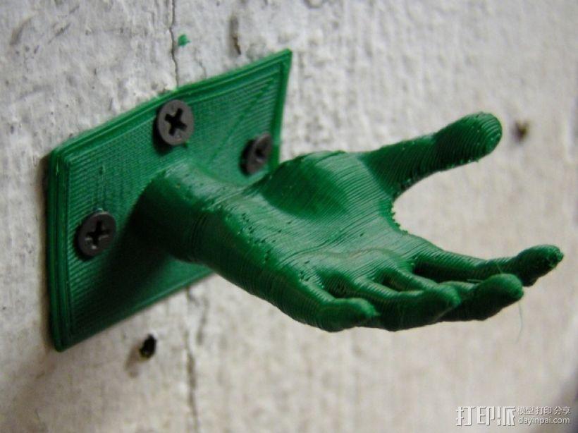 手形珠宝架/衣帽钩模型 3D打印模型渲染图