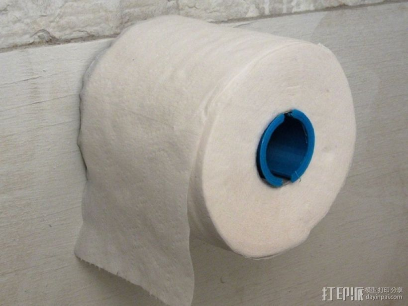 厕纸卷夹模型 3D打印模型渲染图
