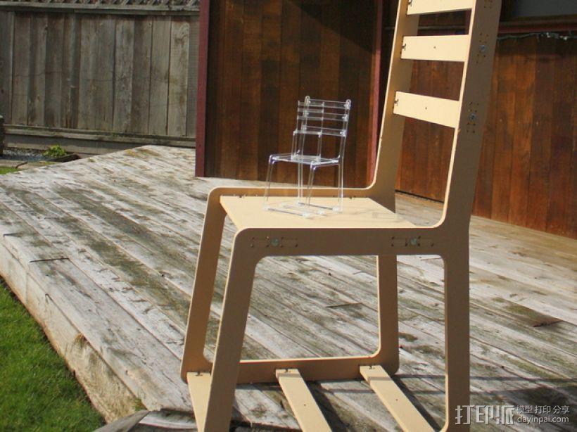 简易椅子模型 3D打印模型渲染图